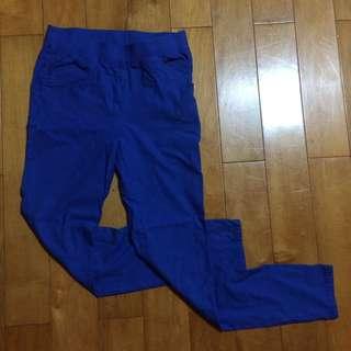寶藍彈性色褲