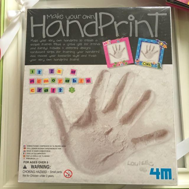 寶寶紀念物-自己動手作手印或腳印!!(石膏款)