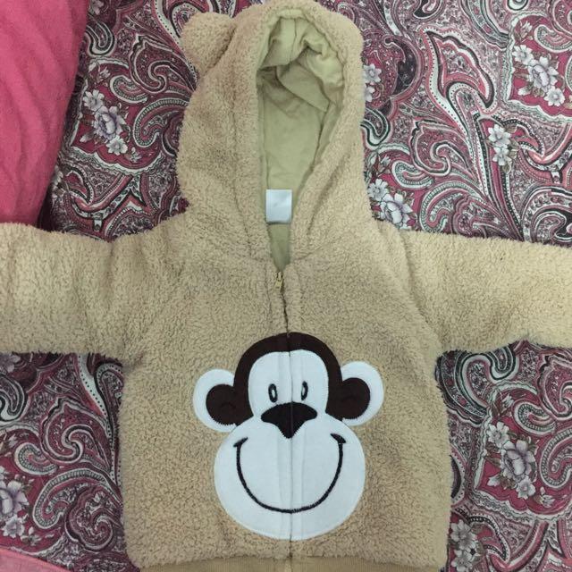 小猴子絨毛外套