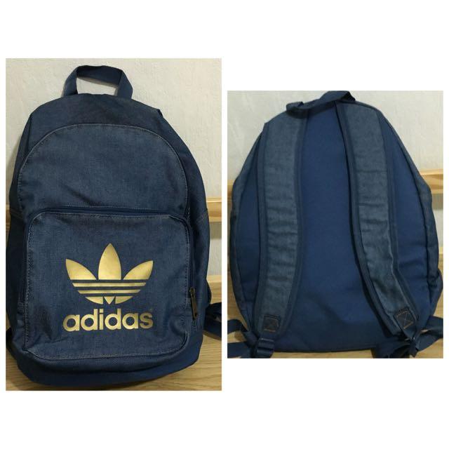 Adidas 牛仔布 後背包