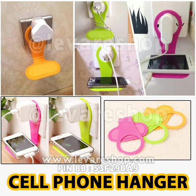 Cell Phone Hanger Gantungan Hp Kabel Charger Pada Saat Charge, Everything Else on Carousell