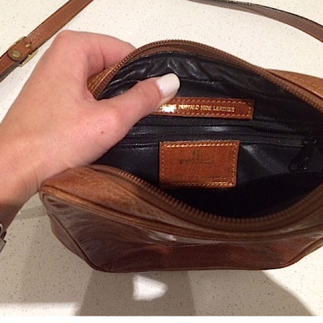 Cellini Vintage Buffalo Hide Leather Bag