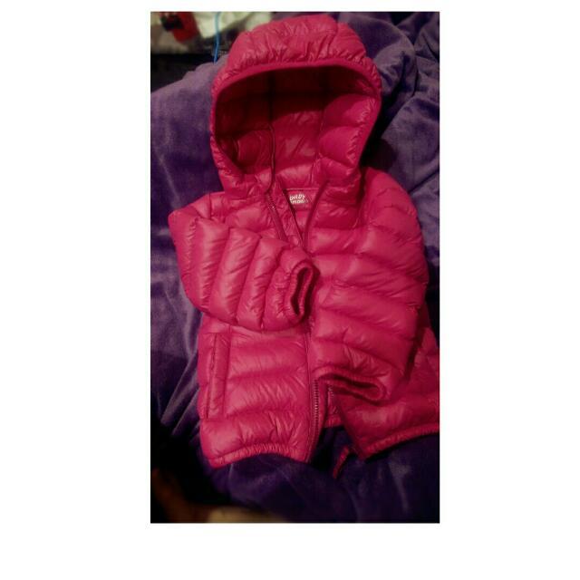 【良心婦人】Mamaway 媽媽餵  Baby 羽絨衣 外套 粉桃紅 12M 80cm 正版