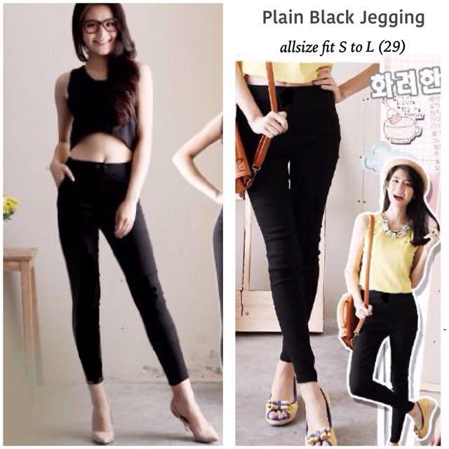 Plain Black Jegging