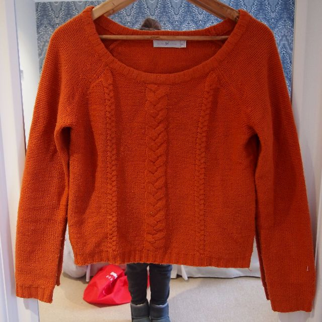 Quirky Circus Burnt Orange Knit Jumper - Size 8-10