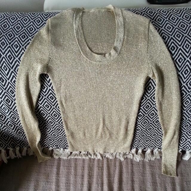 Sparkly Gold Cardi  S/M