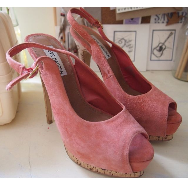 Steve Madden Coral with Cork Heels - Size 7