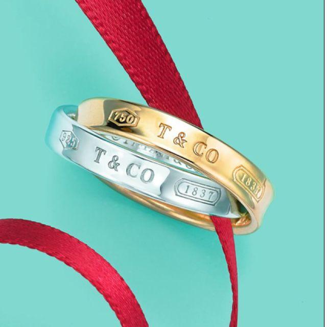 Tiffanys Interlock Ring - Sterling Silver & 18carat gold