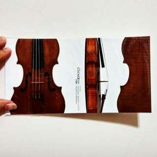 🚚 【明信片】Violin Postcard小提琴