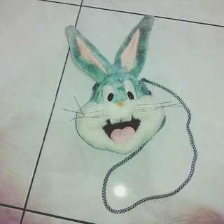 (無袋)卡通兔小零錢背包