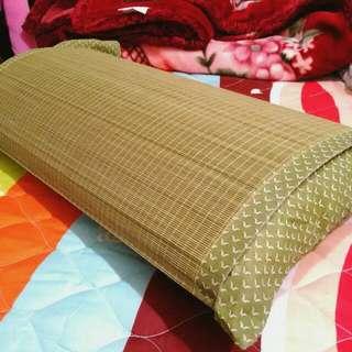 (全新)草蓆枕套