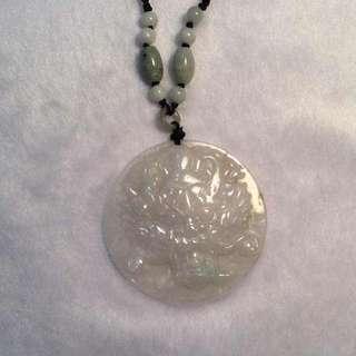 Genuine Jade Pendant Necklace (Dragon)
