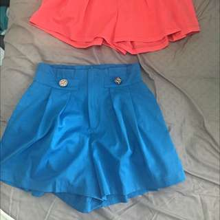 2 X Passion Fusion High Waisted Shorts XS