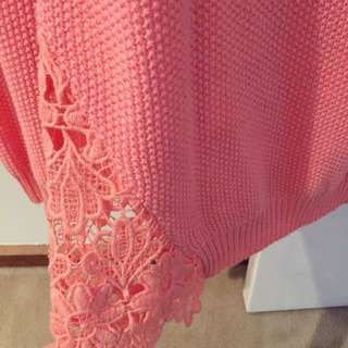 Ally Fashion Knit With Lace Bottom