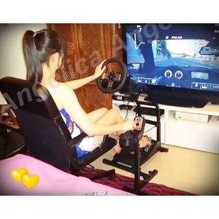 BY AG賽車架 賽車椅 賽車座 (含加固件款~) +G27方向盤組(保固一年)  (G29 非 Ironax APIGA)