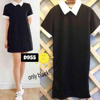 COLLAR BLACK DRESS D955