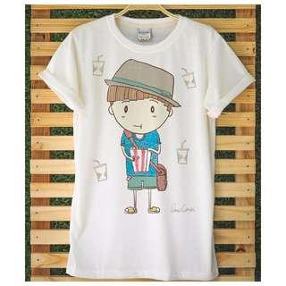 Movie Times Popcorn Boy & Soda Girl t-shirts