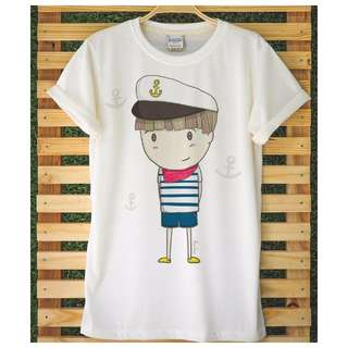 Ocean Couple Navy Boy & Sailor Girl t-shirts