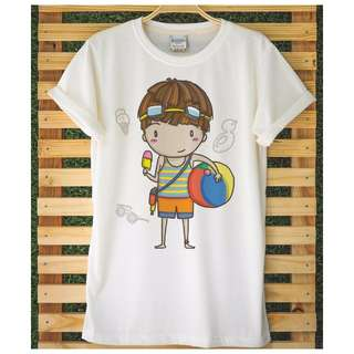 Beach Ball Boy & Duckie Girl t-shirt