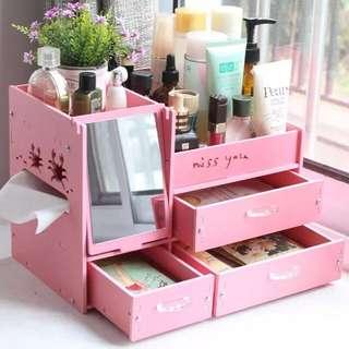 ✨晴麻麻✨DIY防水加厚板化妝品鏡面收納盒