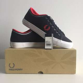 Fred Perry Kendrick Tipped Cuff Canvas Sneakers/ Shoes
