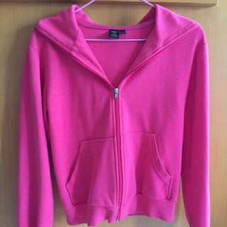 粉紅色拉鍊外套
