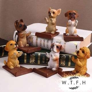 🚚 歐式各種犬狗動物手機支架