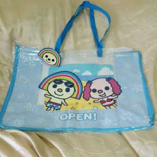 OPEN將海灘大方包 透明袋 防水袋 游泳包
