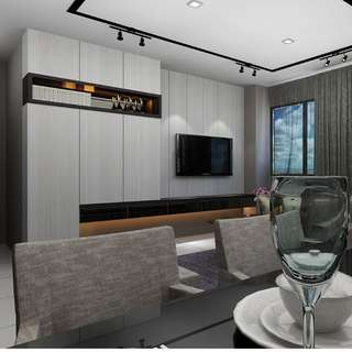 EXPRESS 3D INTERIOR DESIGN PERSPECTIVE DRAWING @ $60 ONLY!