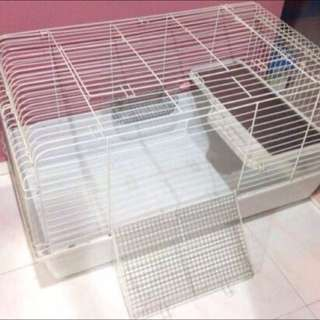 3 Bunny Rabbit Cages (used) For Sale 2 Bunny Cages, 1 Travel Carry Cage, Food, Hay Pellets - Bundle Sales Not Adoption