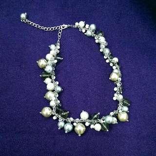 灰色地帶&粉澀溫潤&白色清透 三色 珠珠項鍊