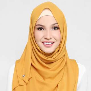 ❗️PENDING TO CAPI - dUCk Scarf Georgette In Honey
