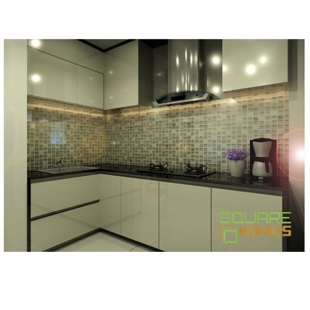 Solid Surface Kitchen Cabinet: 20FT TOP/BOTTOM KITCHEN CABINET + 10FT SOLID SURFACE