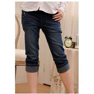 BN Maternity 3/4 Blue Denim Jean