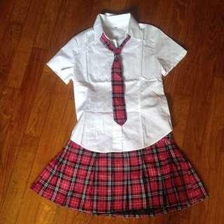 Japanese Hot Pink School Uniform