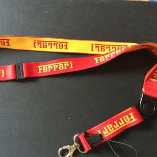 Authentic Ferrari Lanyard