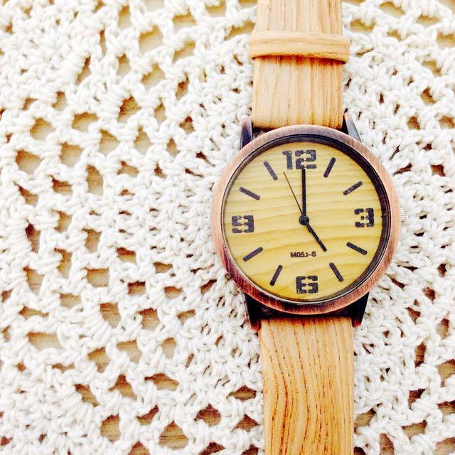 質感木紋手錶