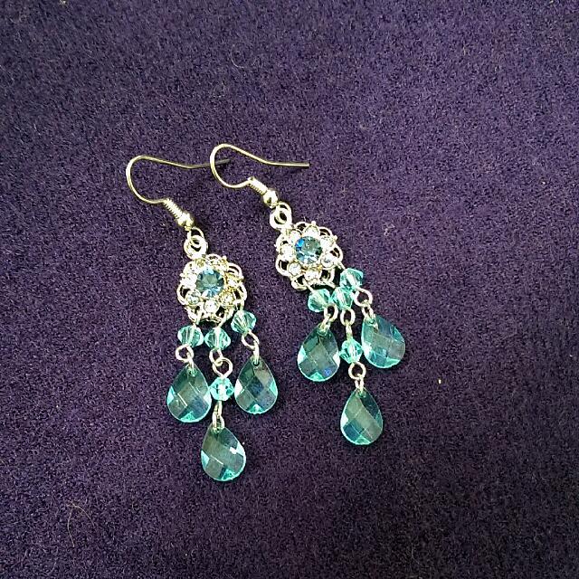 印度風 藍色水滴耳環