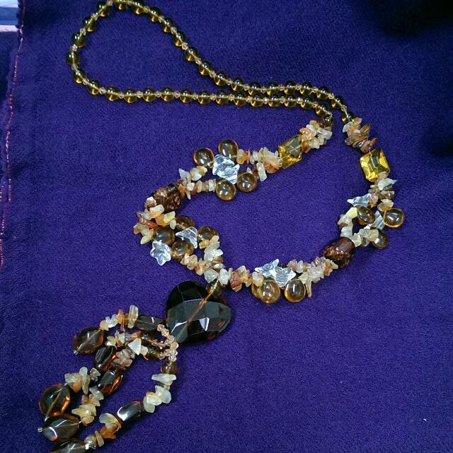 琉璃石頭長鍊 裝飾 配件