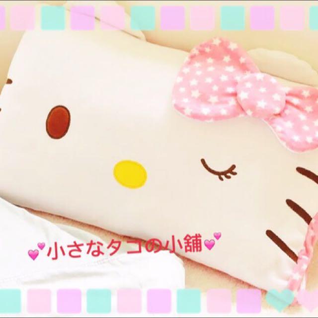 現貨 全新 kitty KT 凱蒂貓 毛絨  卡通 單人 枕套 枕頭套