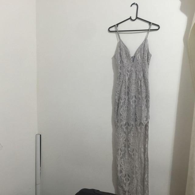 Asymmetric Grey Size 8 Dress
