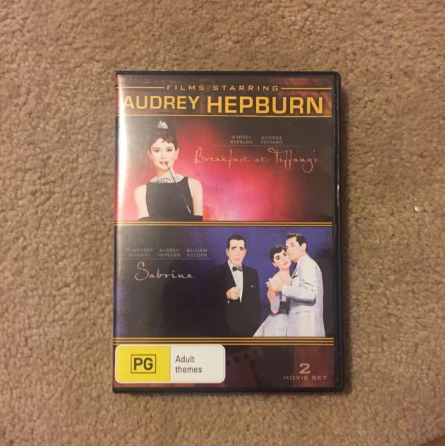 Audrey Hepburn DVD Sabrina and breakfast At Tiffany's