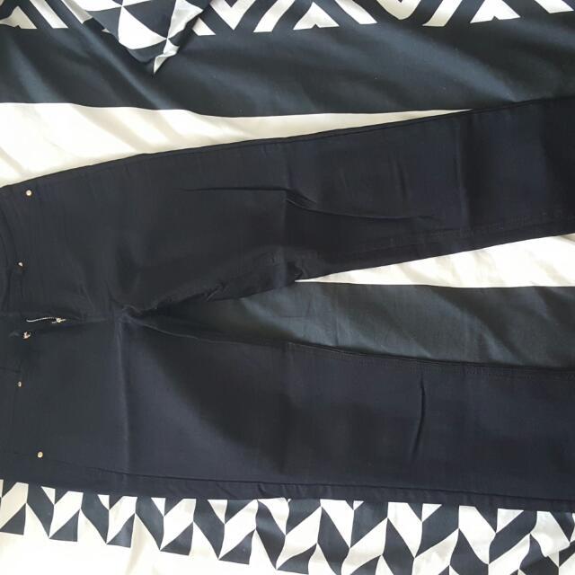 Black Pants Skinny Slack