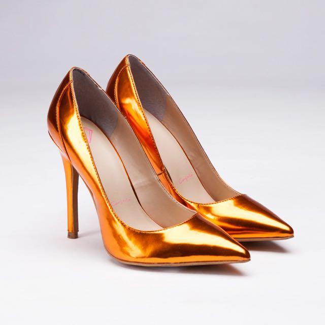 Carry Me璀璨橘高跟鞋