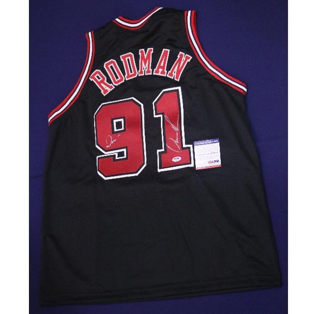 "pretty nice c01fb e9656 Dennis Rodman Chicago Bulls Away Signed Jersey with ""WORM"" Inscription –  PSA/DNA NBA"