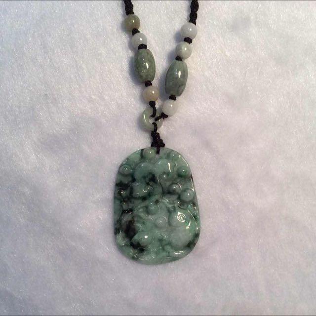 Genuine Jade Pendant Necklace