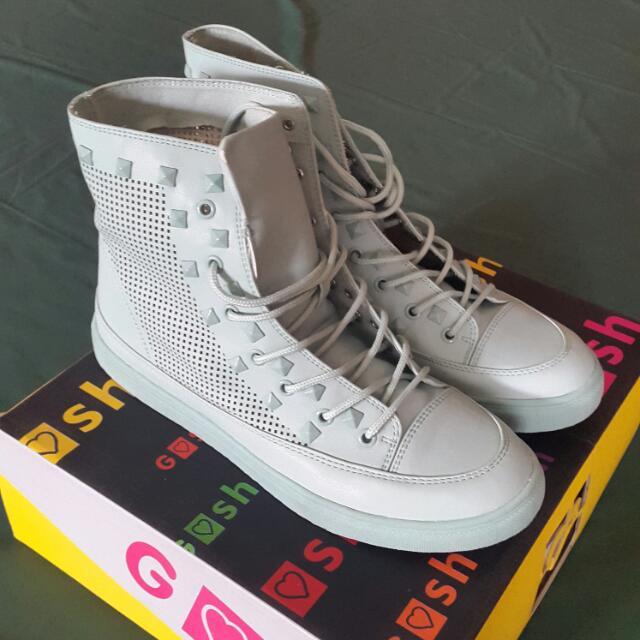 GOSH BNIB Ankle Boots Green Pastel Sepatu