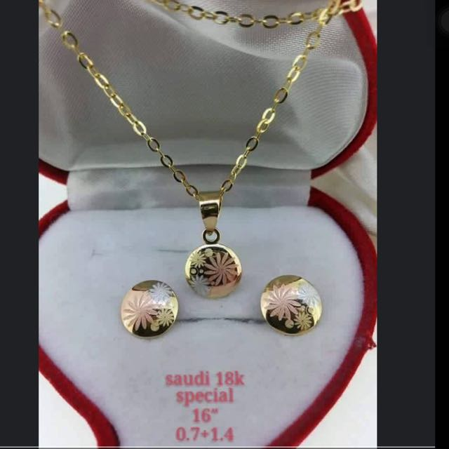 Jewelry Set Saudi Gold SPL 18K750 Luxury on Carousell