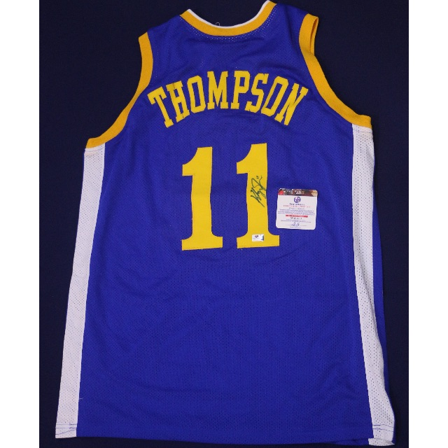 timeless design 5f7db 843a9 KLAY THOMPSON Golden State Warriors Signed Home Jersey – GA ...