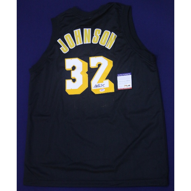 3c43d416766 MAGIC JOHNSON LA LAKERS Away Signed Jersey – PSA/DNA NBA, Sports on ...